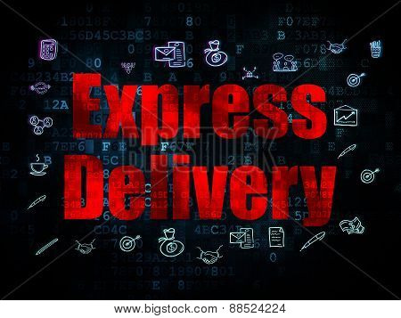 Business concept: Express Delivery on Digital background