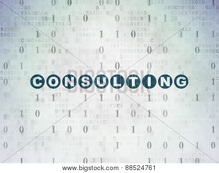 Finance concept: Consulting on Digital Paper background