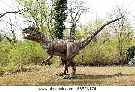 Profile Of Saltriosaurus Dinosaur Model Outdoors