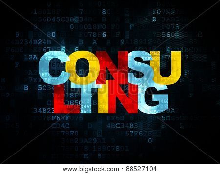 Finance concept: Consulting on Digital background