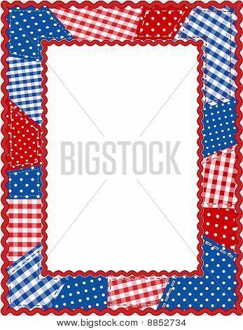Americana Patchwork Frame