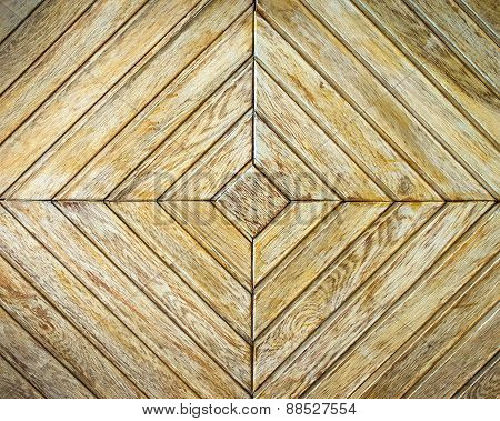 Background or texture of light  parquet with geometric structure