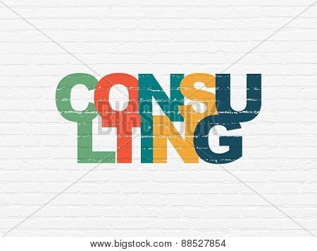 Business concept: Consulting on wall background