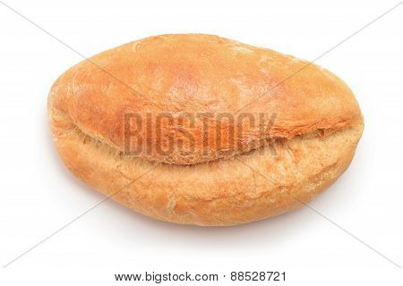 Large Bread On White