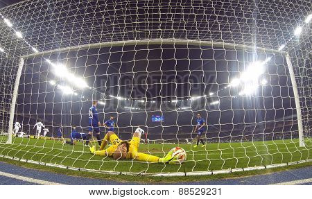 Football Game Fc Dynamo Kyiv Vs Fc Everton