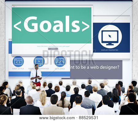 Business People Goals Presentation Concept