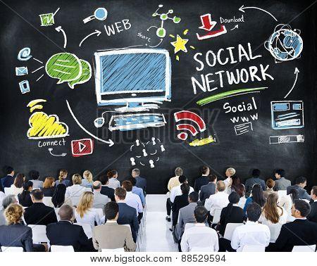 Social Network Social Media Business People Seminar Concept