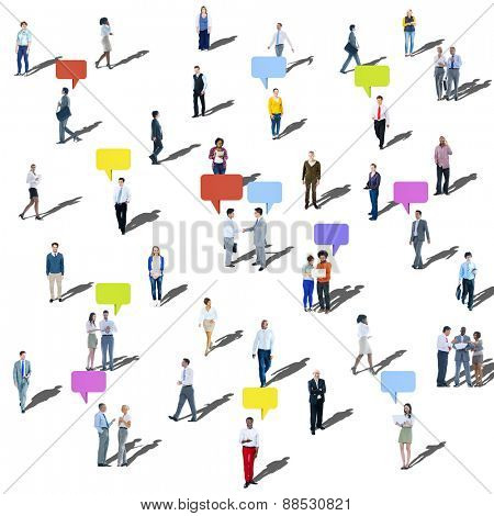 Large Group of People Communication Diversity Community Concept