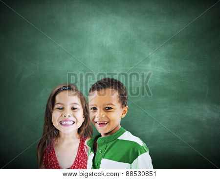 Children Kids Diversity Education Happiness Cheerful Concept