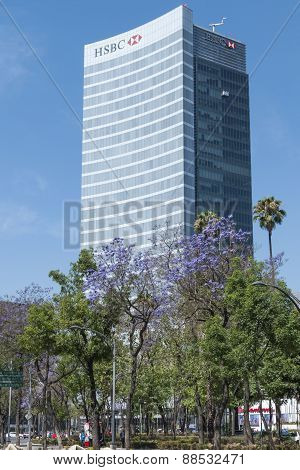 Hsbc Financial Banking Tower In Mexico City