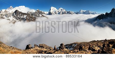 Panoramic View From Gokyo Ri
