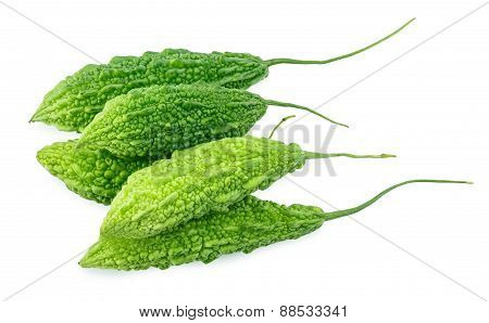 Bitter Gourd On The White Background