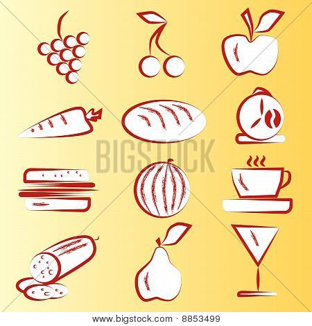 Red Food Icons