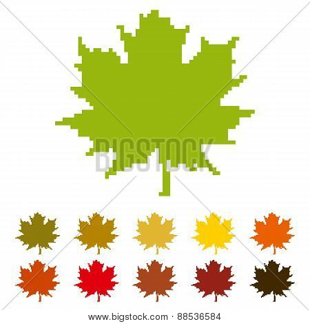 Pixel Maple Leaf