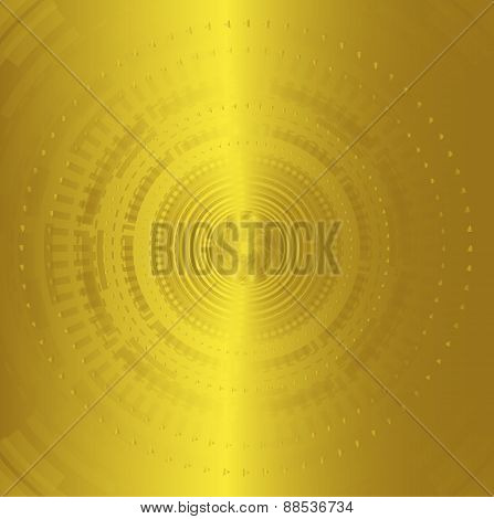 Abstract background technology circles golden color