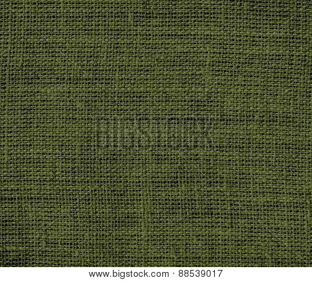 Burlap army green texture background