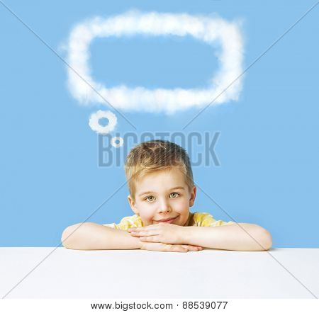 Cute little boy having an idea