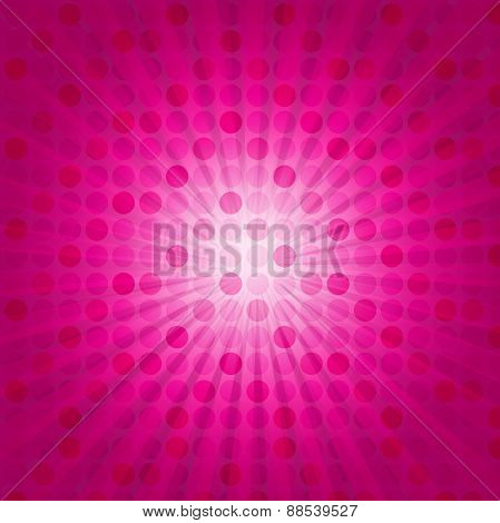 Cute Pink Starburst Background