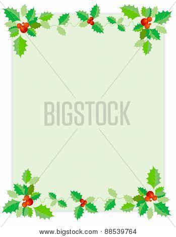 Holly Christmas Border / Background