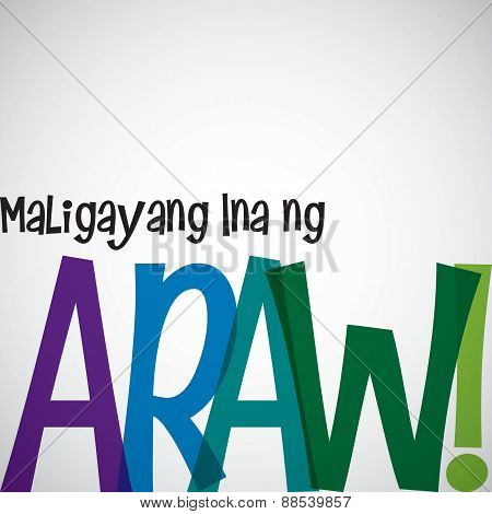 Bright Typographic Filipino