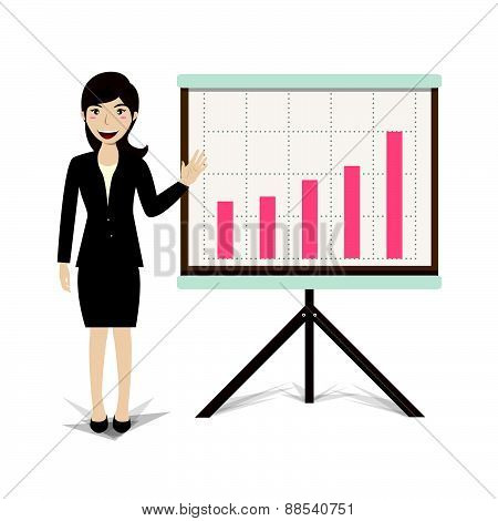 Business Present Growing Business Vector Illustration
