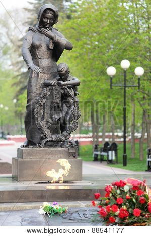 BELGOROD, RUSSIA - MAY 2, 2011: Monument to soldiers who died in the Great Patriotic war. Belgorod got the title of City of Military Glory in 2007