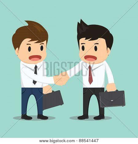 Businessman Shaking Hand Vector Illustration