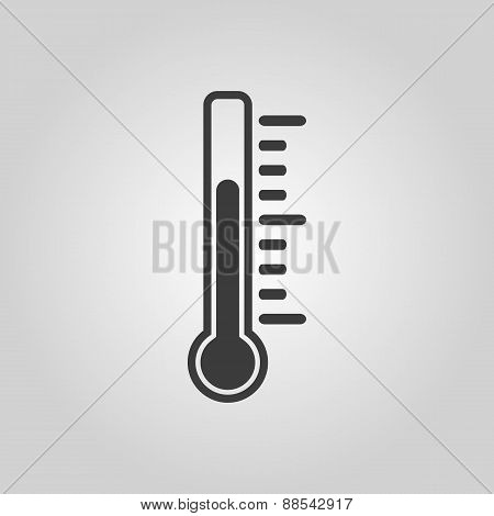 The Thermometer Icon. Thermometer Symbol. Flat