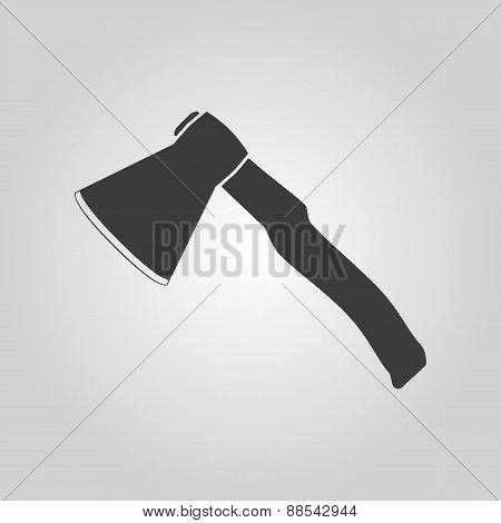 The Ax Icon. Axe Symbol. Flat