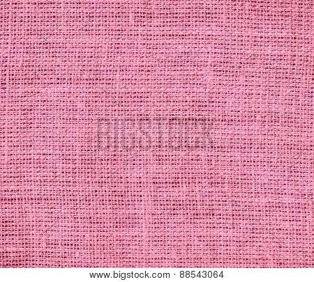 Baker-Miller pink color burlap texture background