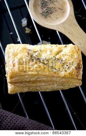 Close Up Chicken Puff Pastry