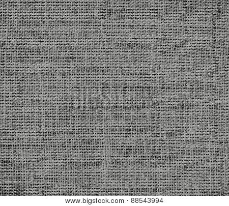 Battleship grey color burlap texture background