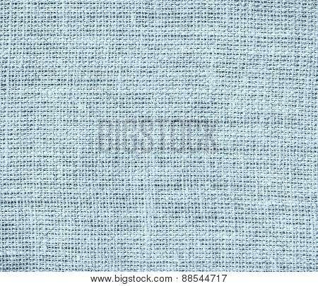 Beau blue color burlap texture background