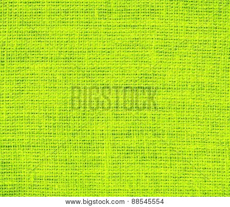 Burlap Bitter lime texture background