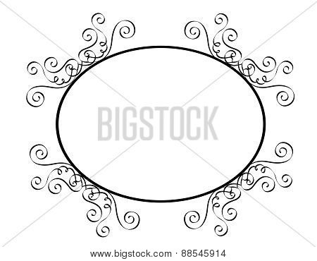 Black And Whte Ornamental Frame