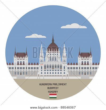 Hungarian Parliament. Budapest, Hungary