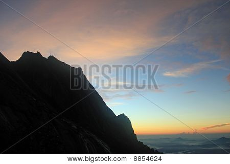 sunrise from a mountain