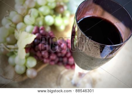 Top Of Glass Of Grape Juice
