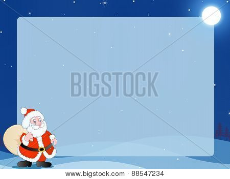 Winter Background With Santa