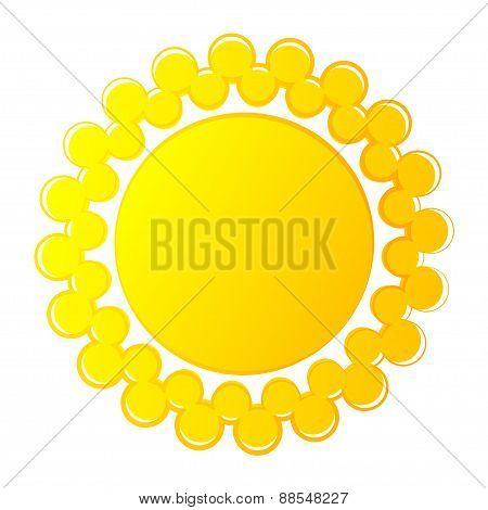 Abstract sun logo  icon. Vector.