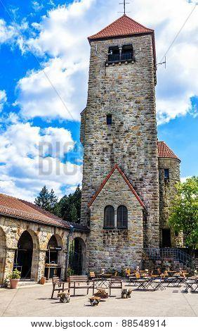 The Wachenburg in historical town Weinheim, Germany