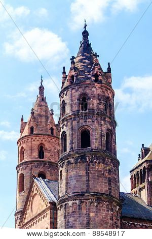 The Kaiserdom of St. Peter in Worms, built 1130-1181, Germany