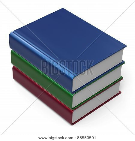 Books Stack Three 3 Colorful Blank Cover Information Icon