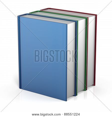 Books Stack Three 3 Colorful Blank Cover