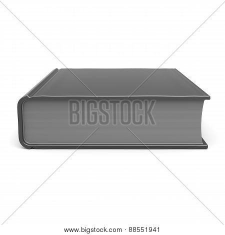 Book Blank Empty Template Single Brochure Icon Concept