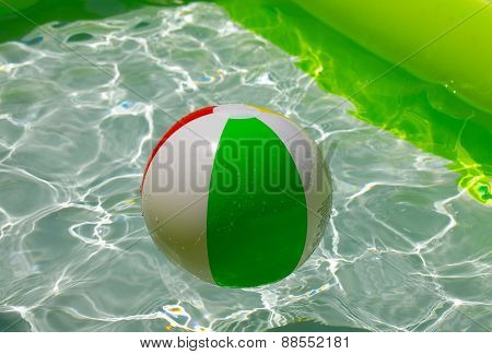 Beach Ball in a Pool