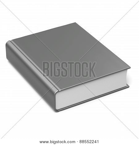 Blank Book Empty Template Single Brochure Hard Cover Textbook