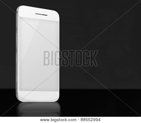 Realistic Mobile Phone With Blank Screen.
