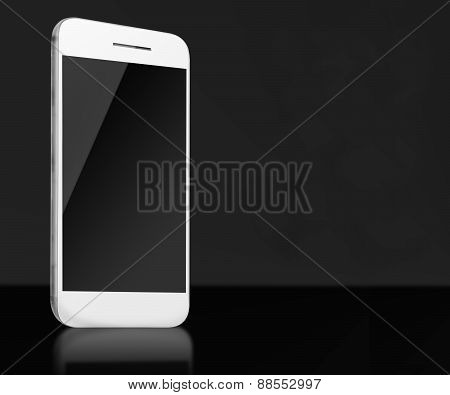 Realistic Mobile Phone With Empty Screen.