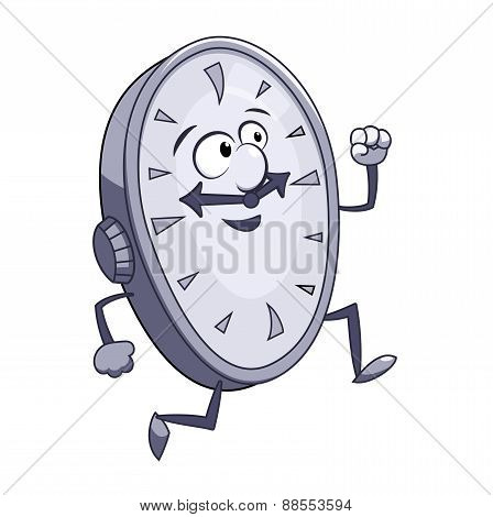 Smiling clock is running